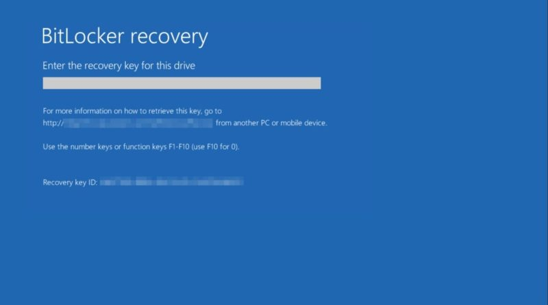 BitLocker-Recovery-key-error