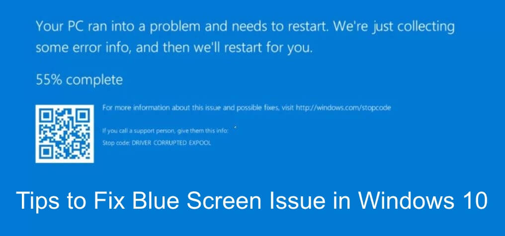 tips to fix blue screen error or bsod in windows 10