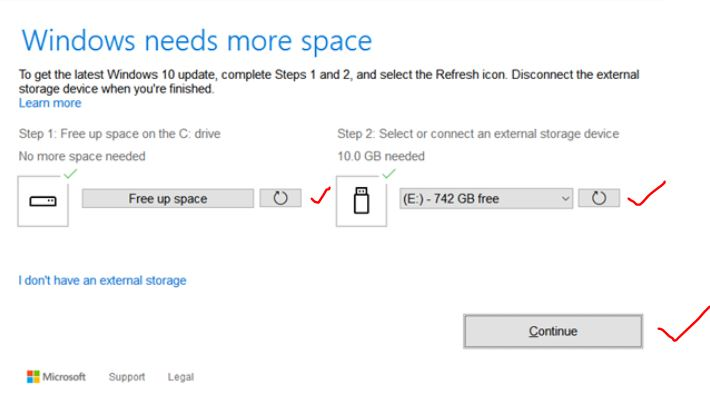 Continue-with-External-drive
