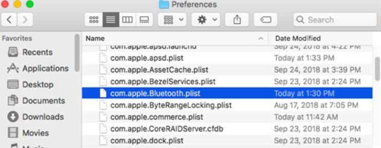 com.apple.Bluetooth.plist file mac