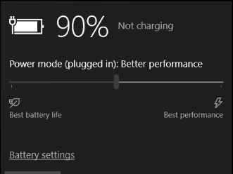 plugged in not charging dell