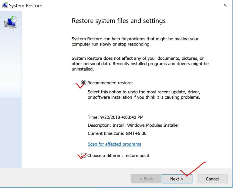 recommended-restore