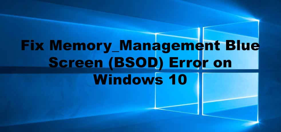 windows 10 memory management fix