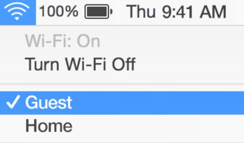Turn off WIFI on mac