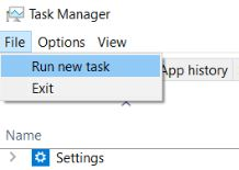 run new task from task manager