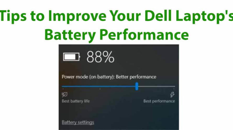Fix Fast Battery Draining Problem on Dell Inspiron, XPS, Alienware, Vostro, Latitude and Dell G Series Laptop