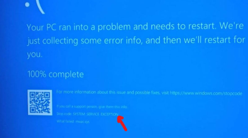 Fix System_Service_Exception Blue Screen Error Windows 10