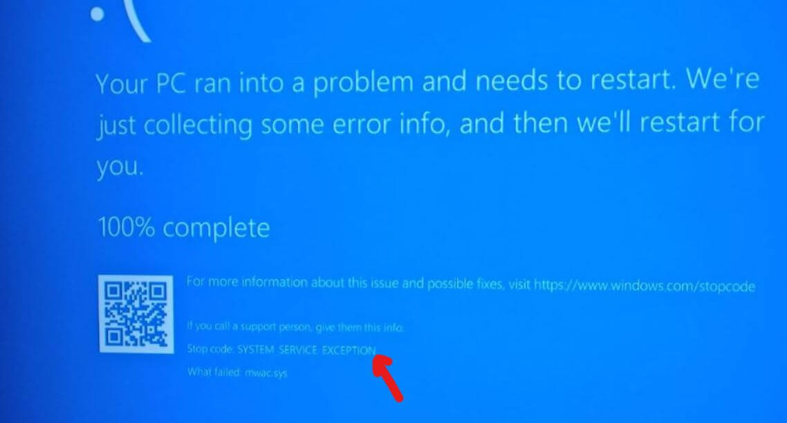 System Service Exception Error — Available Space Miami