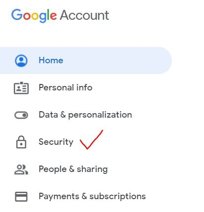 Security on google account
