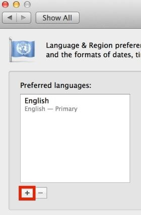 Select the language