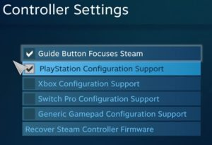 Controller support PS4 Steam